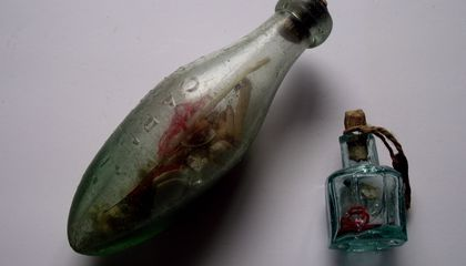 'Witch Bottle' Filled With Teeth, Pins and Mysterious Liquid Discovered in English Chimney