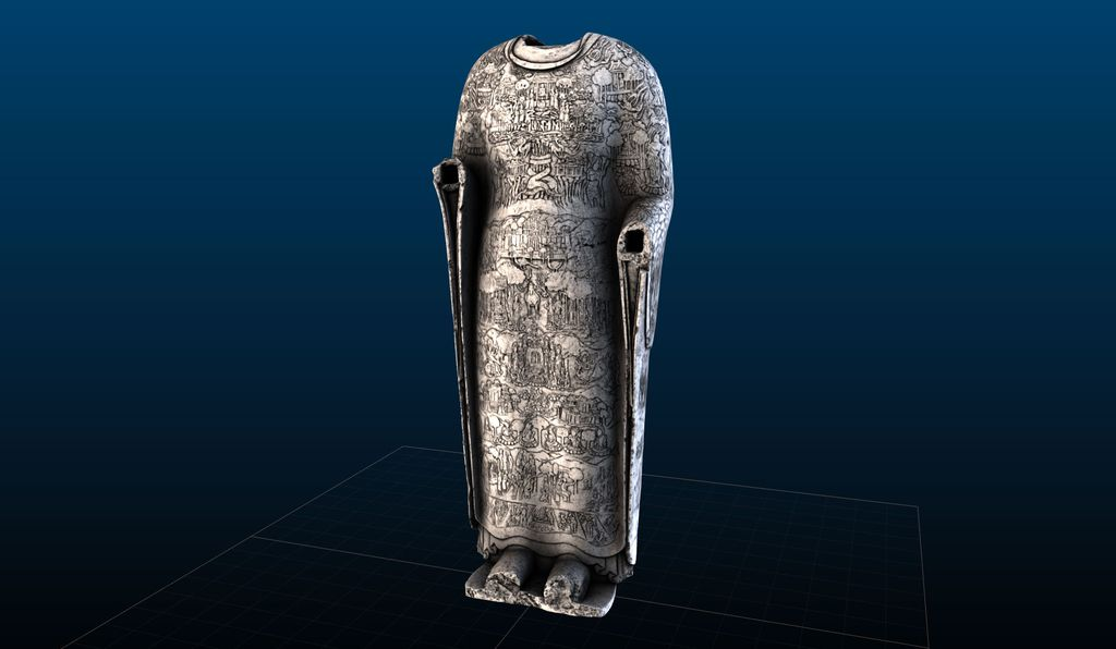 """""""The detail on the surface is absolutely mind-boggling,"""" Wilson says of the <em>Cosmic Buddha</em>, seen in this 3D scan."""