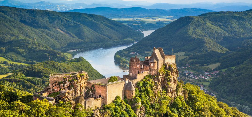 The Wachau Valley of the Danube, a World Heritage site, Austria