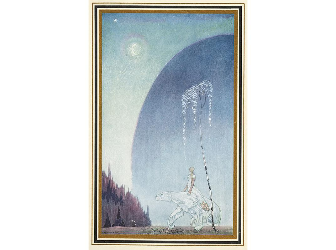 "In the Norwegian story ""East of the Sun, West of the Moon,"" a white bear  takes a human bride. (Kay Rasmus Nielsen,1886-1957/Wikimedia Commons)"