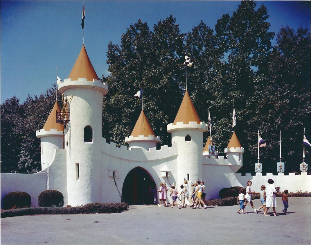 The Original Entrance Castle At Enchanted Forest In Ellicott City As It Looked 1955 Courtesy Of Linda Harrison Gardner