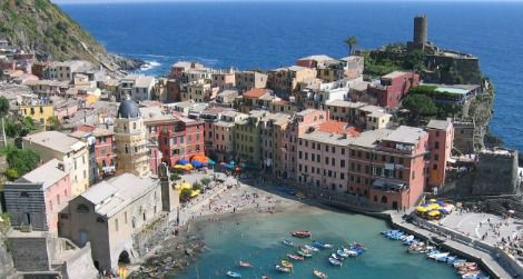 A pre-flood view of Vernazza
