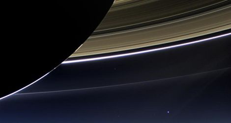 That little blue dot floating in the black is every single one of us.