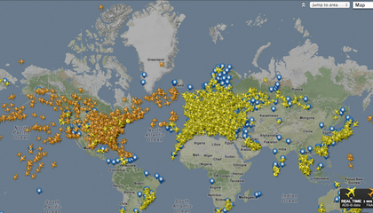 Current Air Traffic Map Us A Map of Every Passenger Plane in the Skies at This Instant