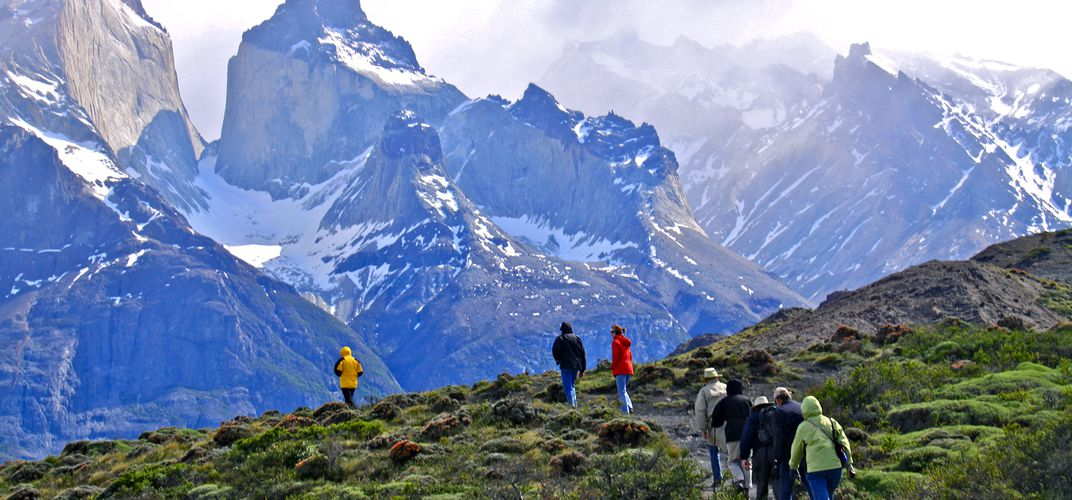 Hiking in Patagonia. Credit: Stephanie Wise