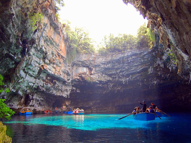 Image result for Melissani Cave Lake