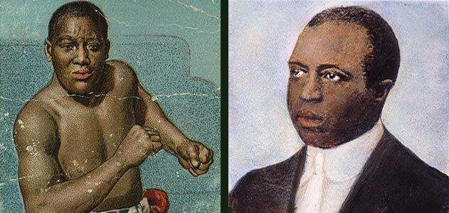 Boxer Jack Johnson and musician Scott Joplin