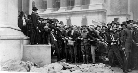 The aftermath of the September 16, 1920 Wall Street bombing