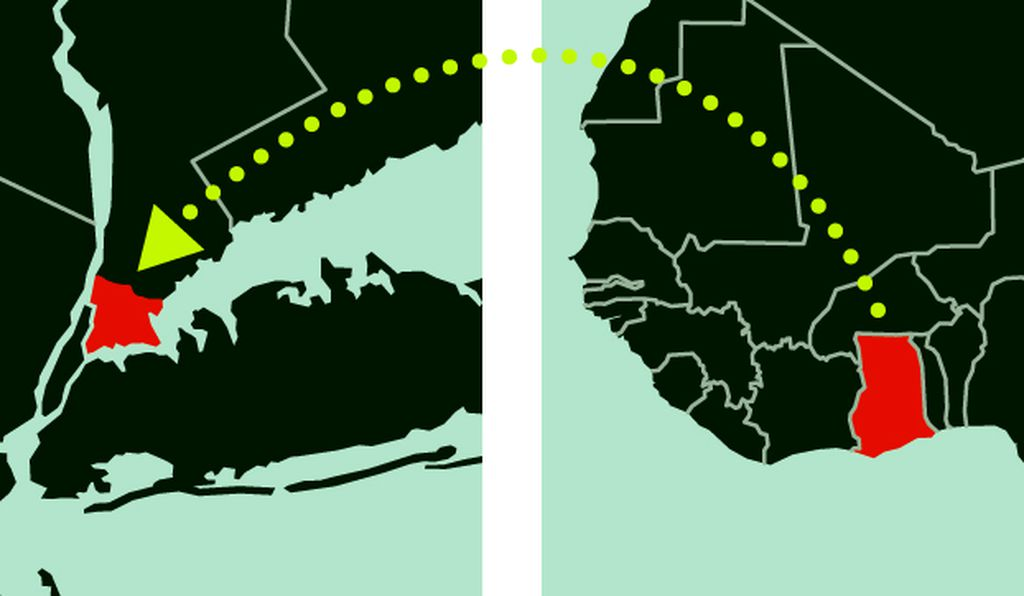 New York may be the largest enclave of the Ghanaian diaspora.