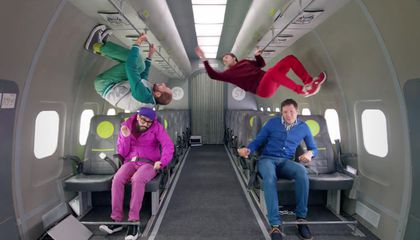 """""""Upside Down & Inside Out,"""" the First Music Video Filmed in Microgravity"""