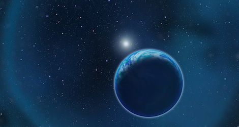 A habitable planet orbits a white dwarf