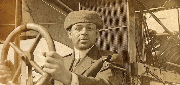 Mary Groce's detective work confirmed Emory Malick, her great-uncle, to be the first known African-American aviator. Emory's 1912 student photo.