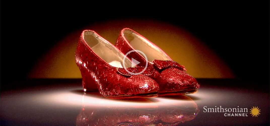 Caption: Dorothy's Ruby Slippers Were Originally Silver