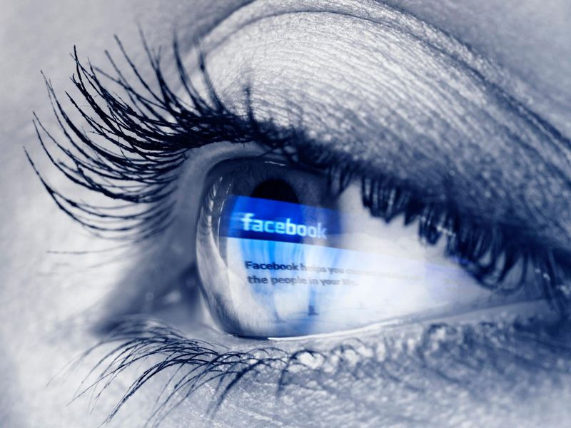 Eye with Facebook Home Page
