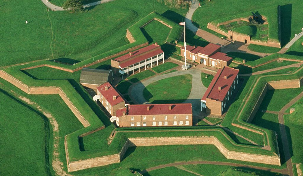 Ft. McHenry National Monument and Historic Shrine in Baltimore Maryland