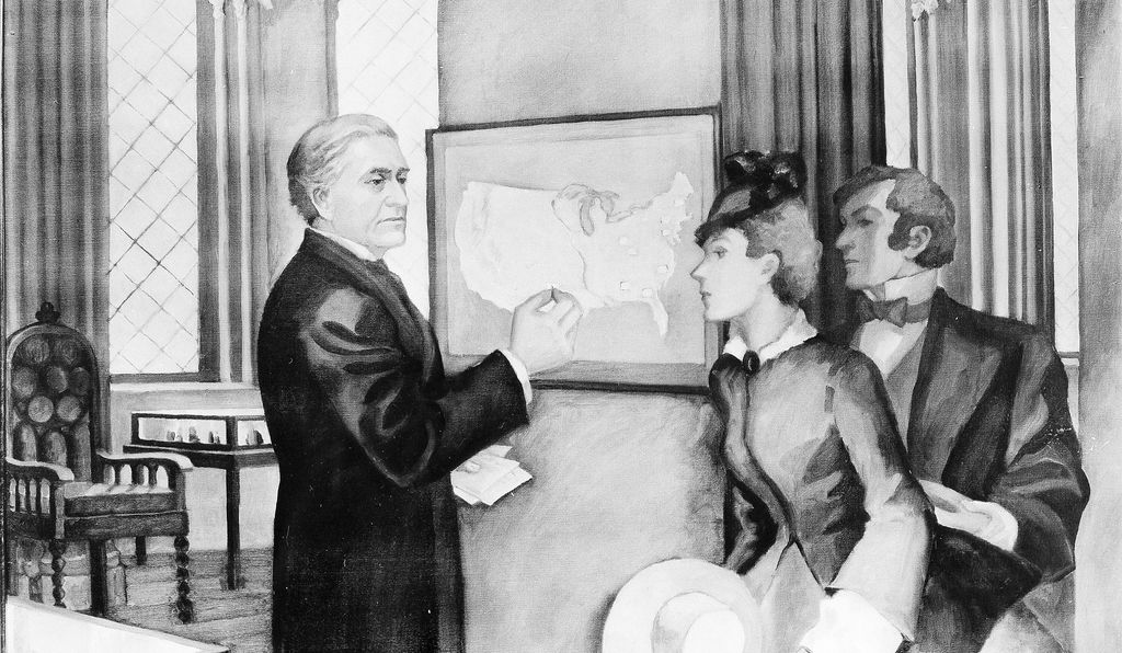 Joseph Henry's weather map was probably the first one in the country.