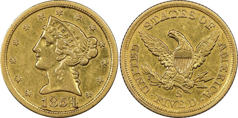 Image result for rare 5-dollar gold coin to be auctioned off