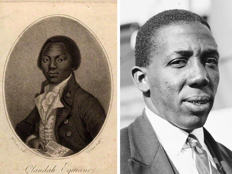 Learie Constantine and Olaudah Equiano