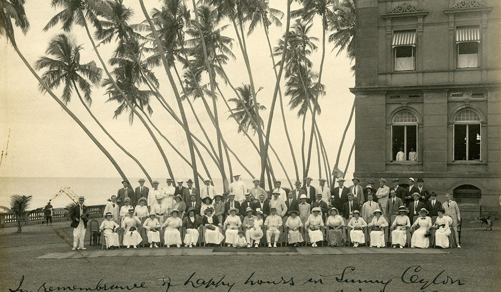 A group portrait taken in Ceylon (modern day Sri Lanka)