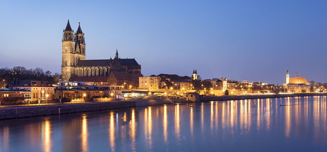 Magdeburg, located along the Elbe River
