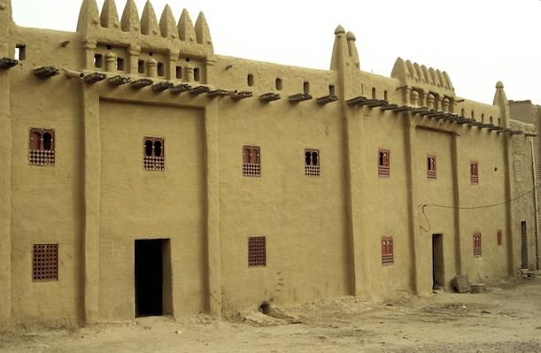 Restored historic buildings in Djenné.