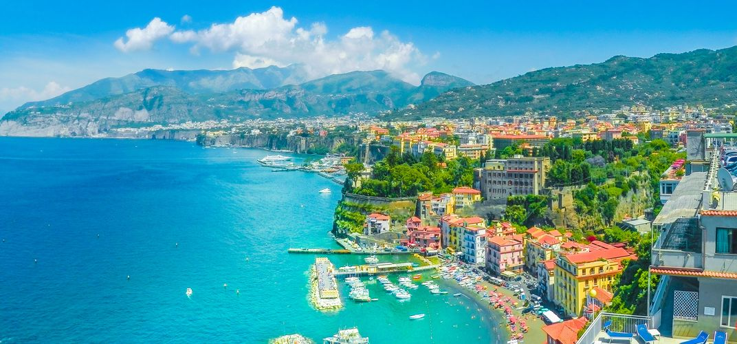 The delightful town of Sorrento
