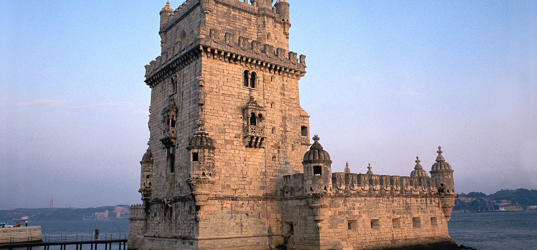 The medieval Belém Tower in Lisbon