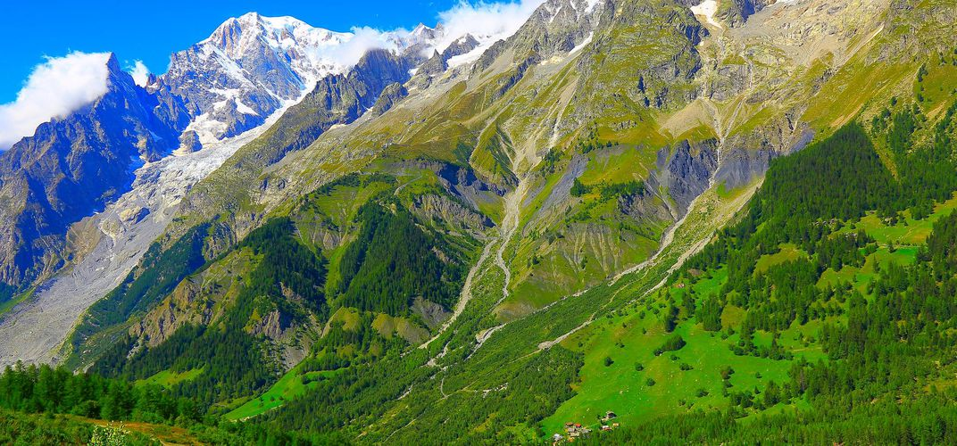 Val Ferret, valley connecting Italy and Switzerland