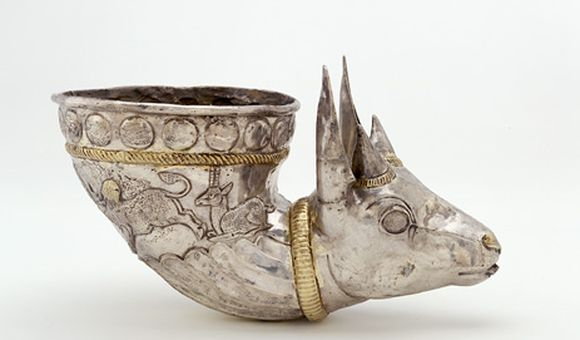 Spouted Vessel With Gazelle Protome, 4th century