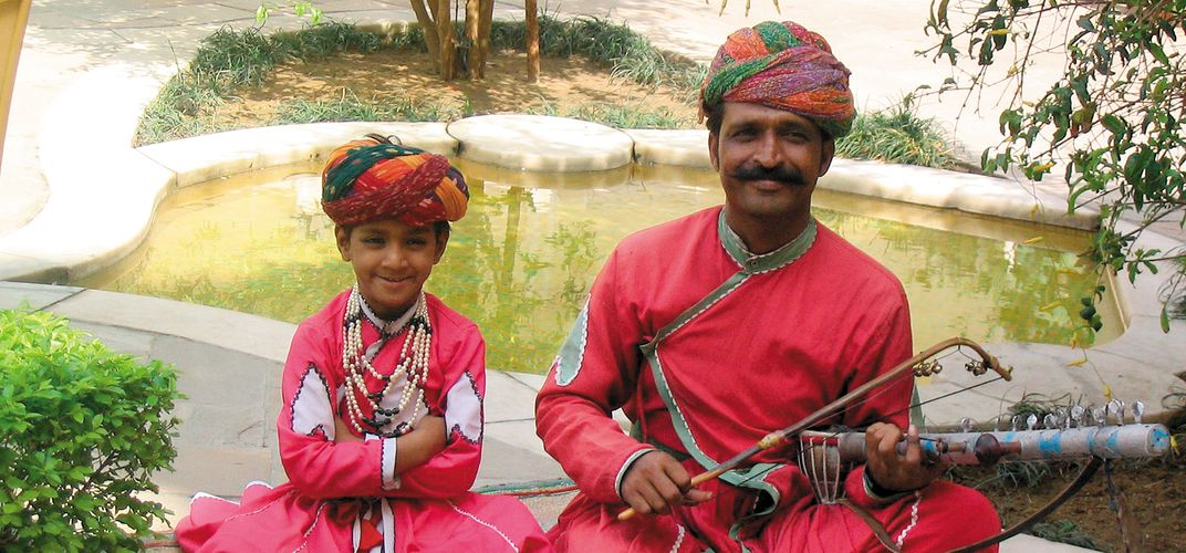 Father and son in Rajasthan. Credit: Linda Currie
