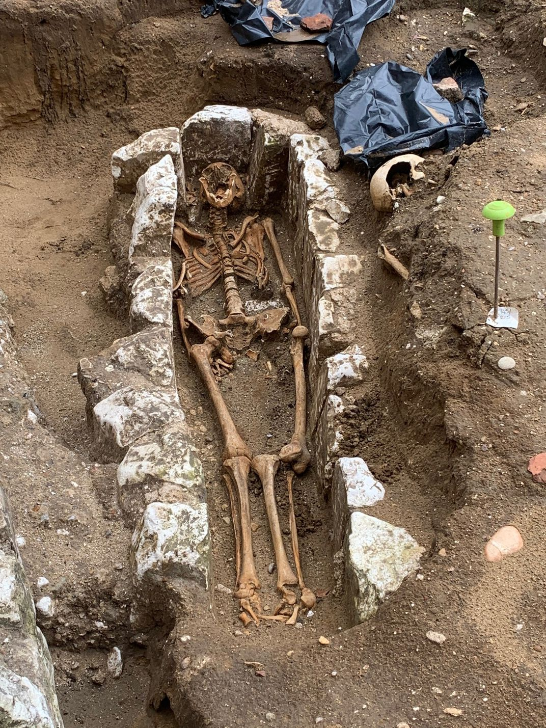 Skeleton of 11th-century monk