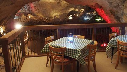 Dine 21 Stories Underground in This 345-Million-Year-Old Cavern