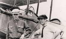 Charles Lindbergh (left) and Harlan Gurney