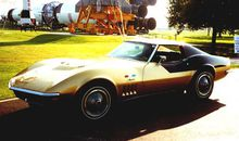 Alan Bean's Corvette goes on display at the Kansas Cosmosphere and Space Center.