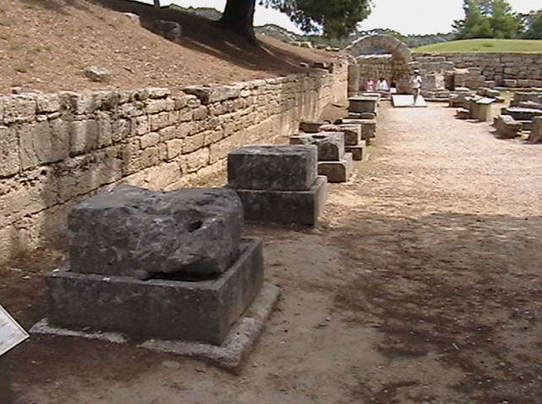 The Bases of Zanes at Olympia, Greece
