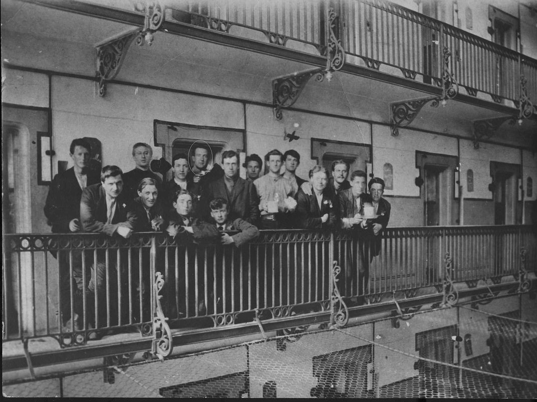 Captured republican soldiers in Stafford Gaol following the 1916 Easter Rising