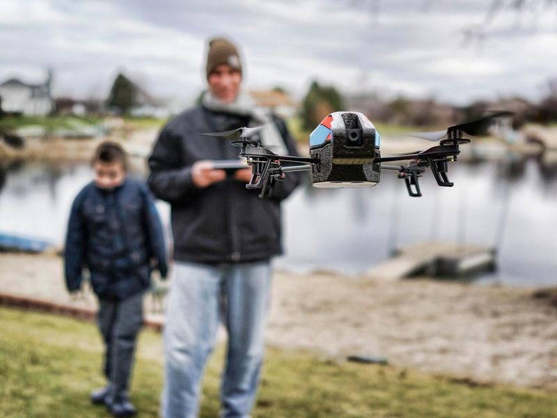 Drone in the park