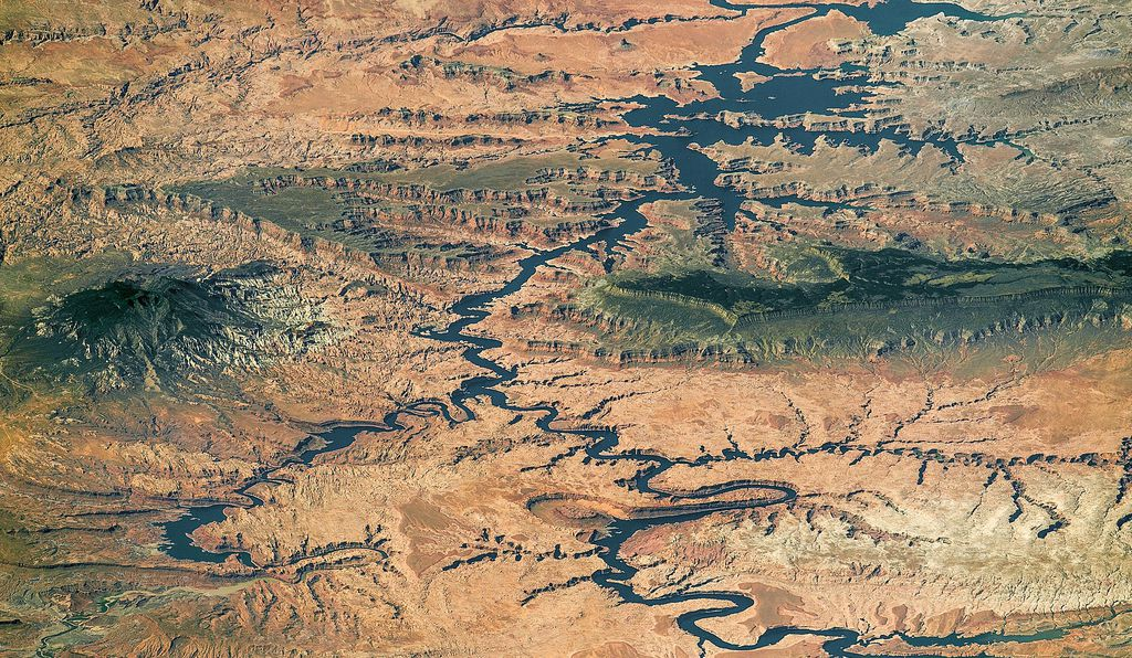 Lake Powell as seen from space