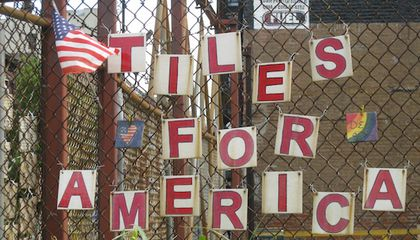 "Handcrafted ""Tiles for America"" Project Remembers 9/ll"