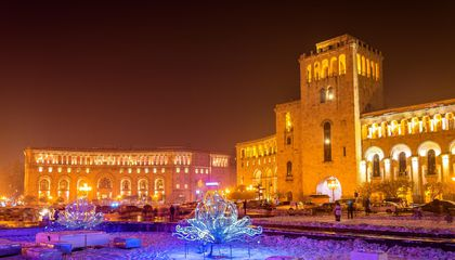 Republic Square decorated for Christmas, Yerevan