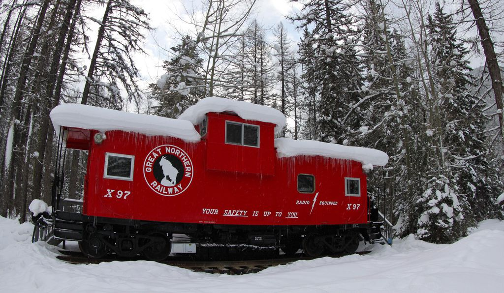 The Great Northern Caboose at the Izaak Walton Inn.