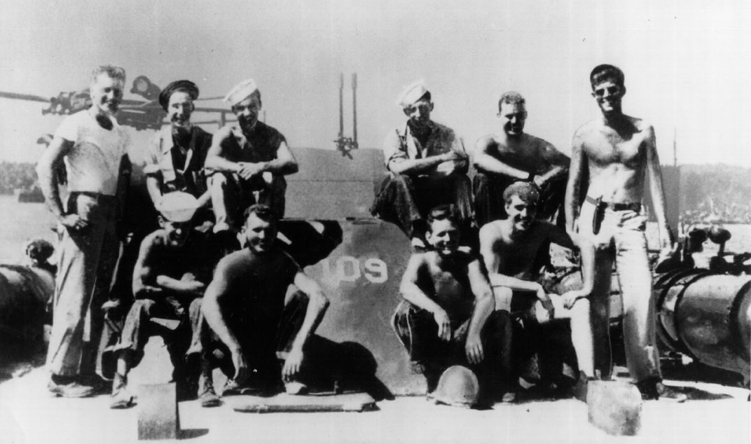 Kennedy and crew