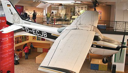 Mathias Rust's Skyhawk is on display at the Deutsches Technikmuseum in Berlin.