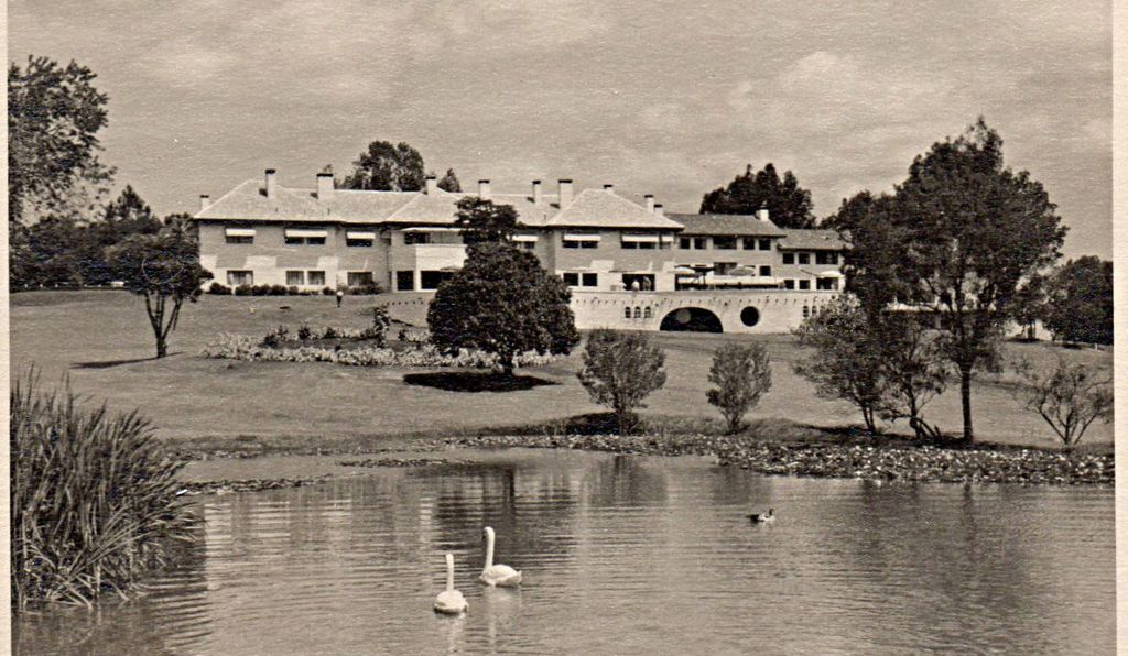 A postcard depicting the Mount Kenya Safari Club circa 1970, when Seuss visited with his wife Audrey.