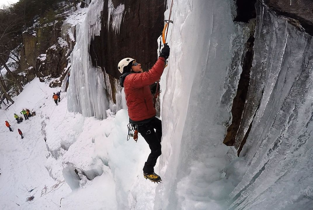 Would you climb a frozen waterfall?