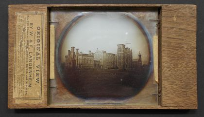 This is the First Known Photo of the Smithsonian Castle