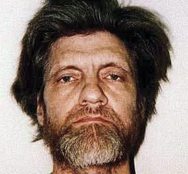 """A mugshot of  Theodore J. Kaczynski, the """"Unabomber,"""" after his capture on April 3, 1996."""