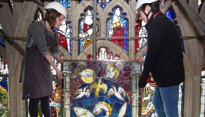 York Minister's Massive Medieval Stained-Glass Window Restored to Its Former Glory