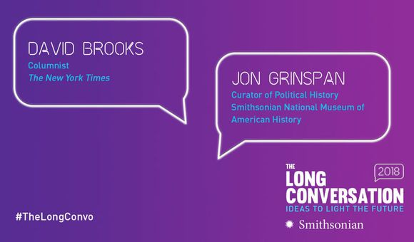 Preview thumbnail for video'The Long Conversation 2018: David Brooks Interviews Jon Grinspan