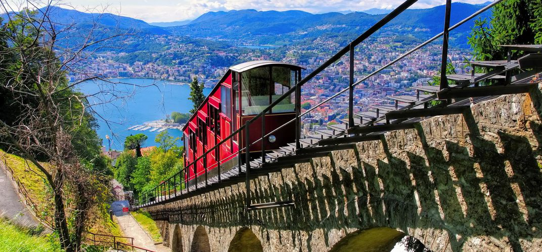 Funicular from Lake Lugano